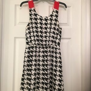 Black/White/Red Bow Everly Dress